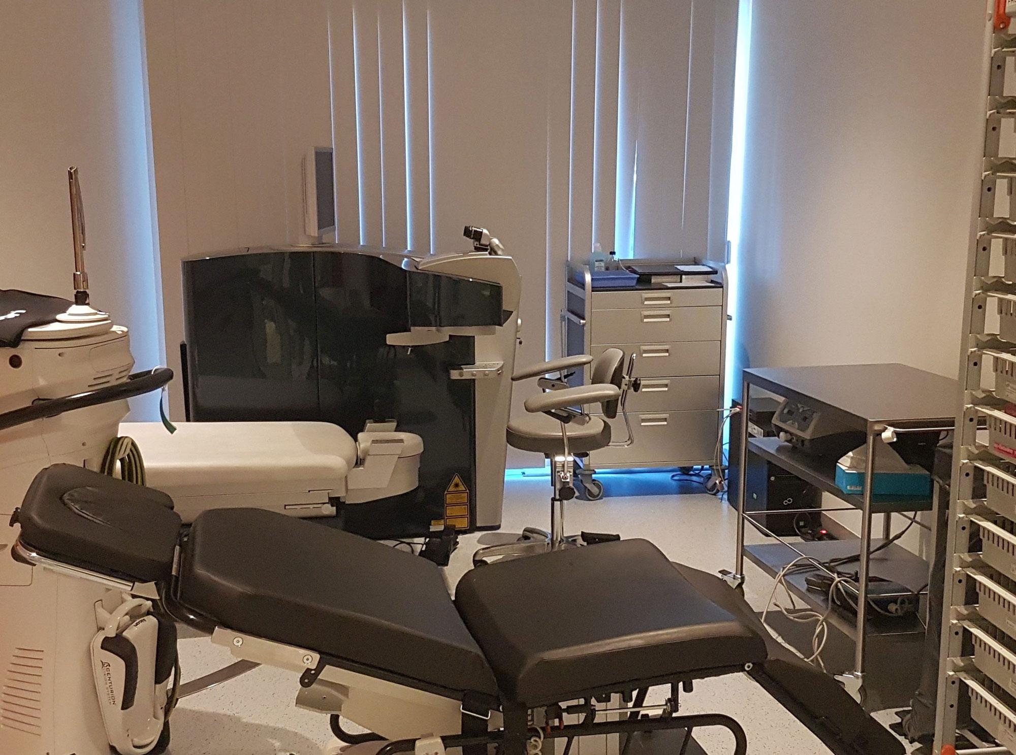 Salle d'opération ophtalmologie à Bruxelles